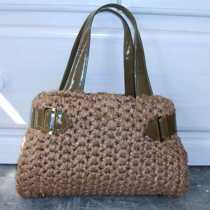 Vintage Crochet Purse Retro Handbag Brown Olive by GypsythatIwas, $24 ...