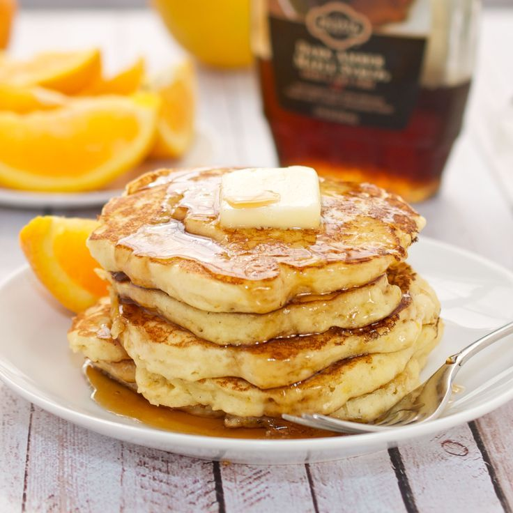 Orange Ricotta Pancakes | Foods | Pinterest