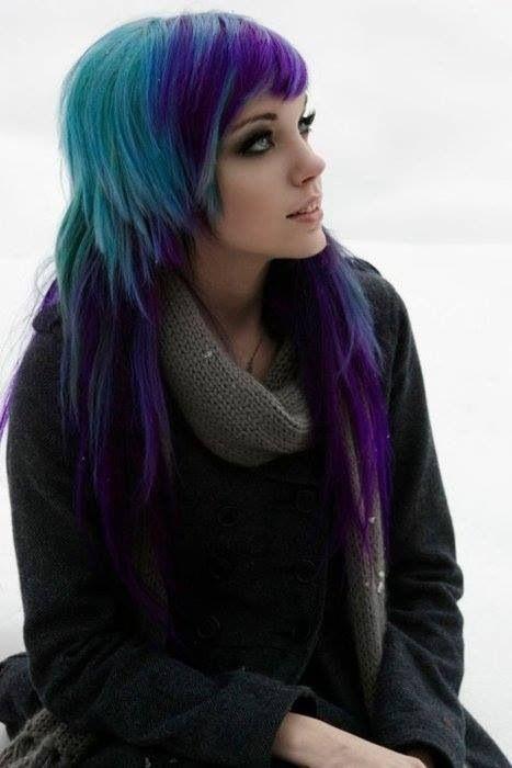 purple and turquoise scene hair wwwimgkidcom the