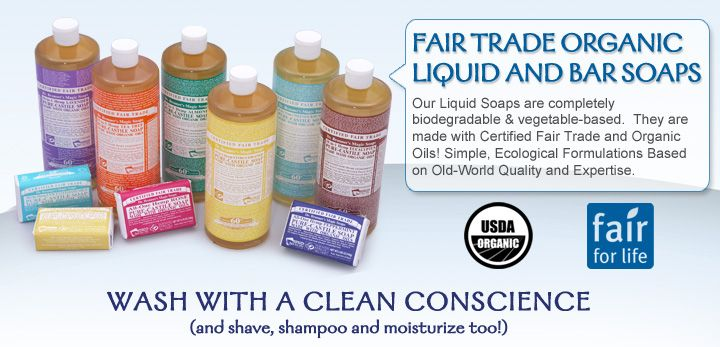 Dr. Bronner's Organic Fair Trade Personal Care