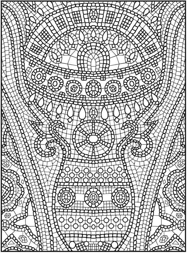 mosaic design coloring pages - photo#12