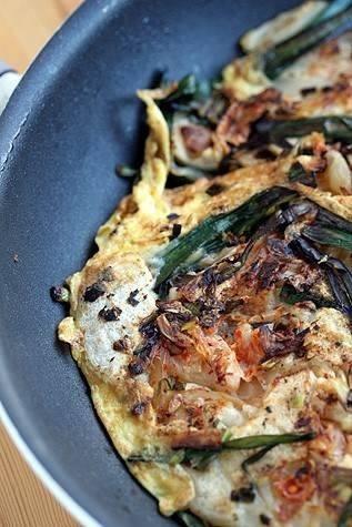 Korean scallion pancake | yummy! | Pinterest