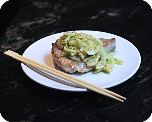 Seared Tuna with Sesame Cucumber Salad | Main Dishes | Pinterest
