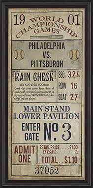 Vintage Baseball Ticket 84