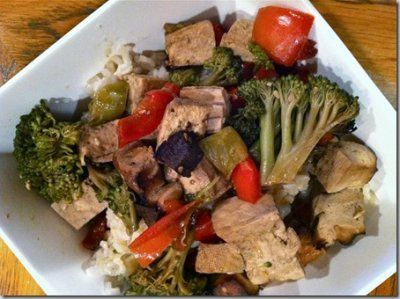 Crock-pot teriyaki tofu & broccoli from Hungry Hungry Hippie
