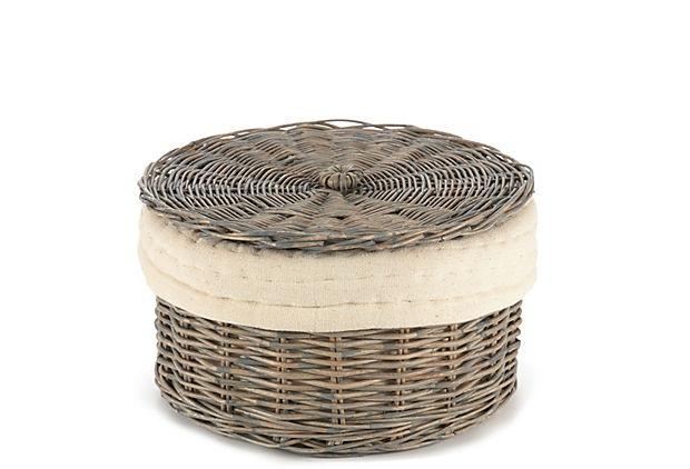 11 wicker basket with lid. Black Bedroom Furniture Sets. Home Design Ideas