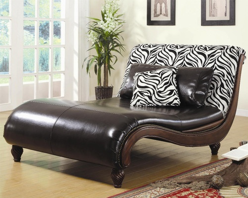 Beautiful haverty 39 s dinah chaise lounge black leather for Chaise zebre