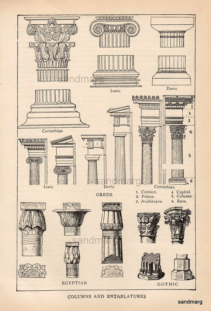 Ancient Egyptian Architecture Columns Architectural Print Of
