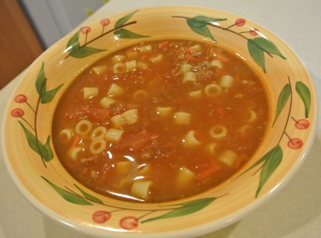 Ground Beef & Tomato Pasta Soup | Soups | Pinterest