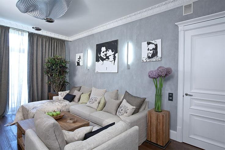 Purple Gray Living Room Library Room Pinterest