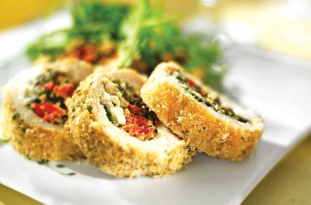 ... dinner guests with these easy Pesto-Stuffed Chicken Rolls | Metro