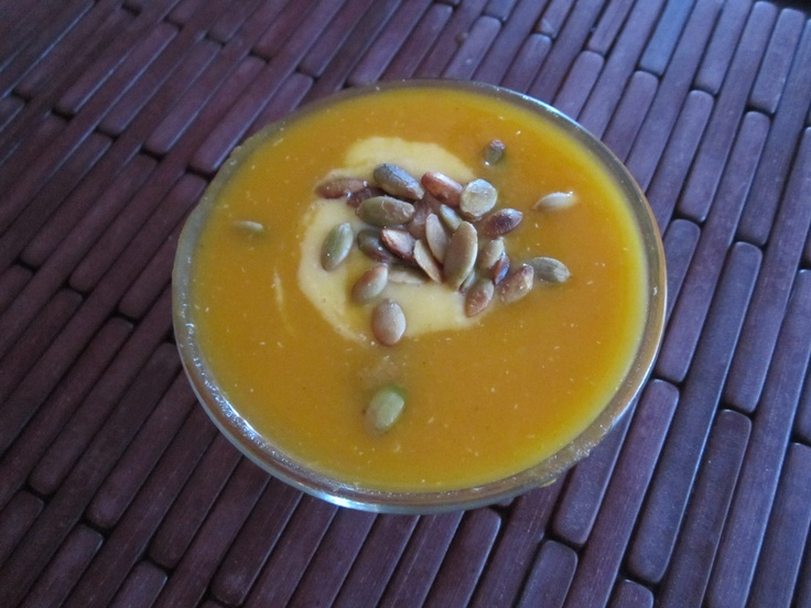 "My Carrot Soup with Faux Butternut Squash ""Fraiche"" and Quinoa ..."