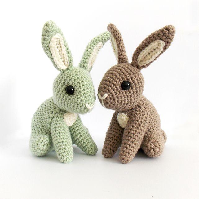 Crochet Patterns Easter Bunny : Hopscotch Bunny - Crochet Pattern by Irene Strange on Folksy, ?3.50
