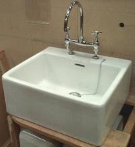 Belfast Bathroom Sink : Belfast shelf sink with taps from architectural salvage