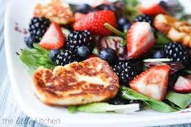 ... salad is at http www thelittlekitchen net triple berry salad halloumi