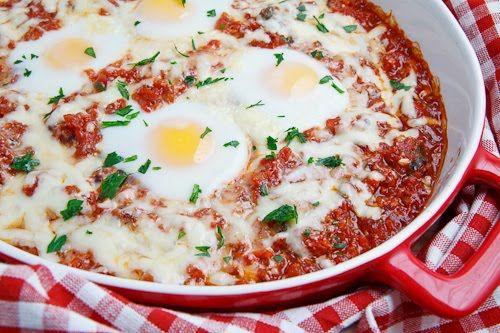 Italian Style Baked Eggs | Recipe