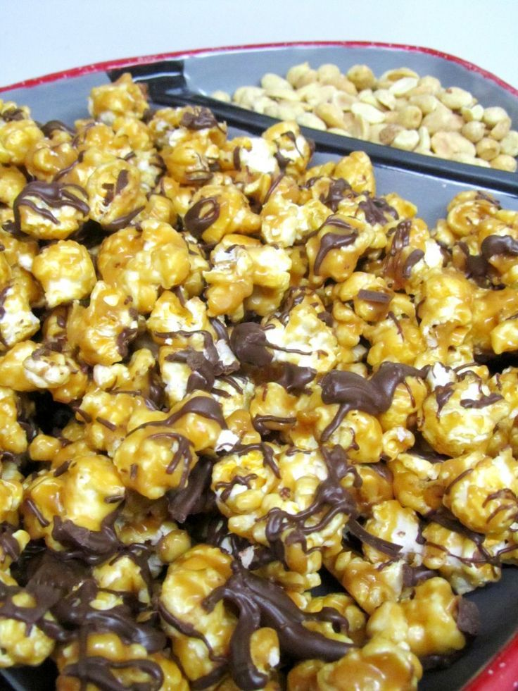 Peanut Butter and Chocolate Popcorn.