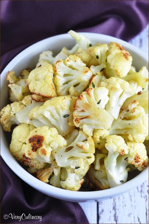 Parmesan Roasted Cauliflower | Actifry | Pinterest