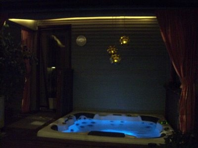 soffit lights over hot tub patio deck ideas pinterest