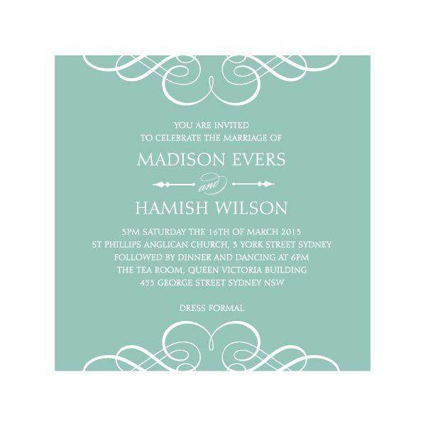 Simple Elegant Wedding Invitations 012 - Simple Elegant Wedding Invitations