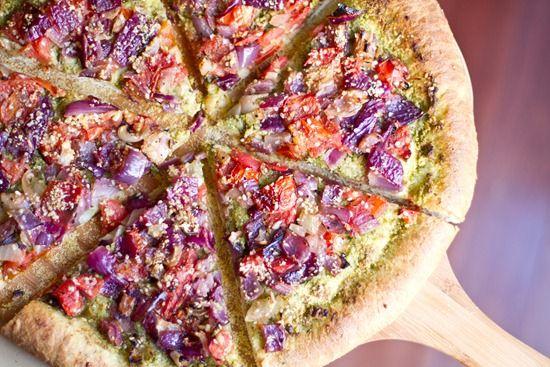 Vegan pizza | kokerellen | Pinterest
