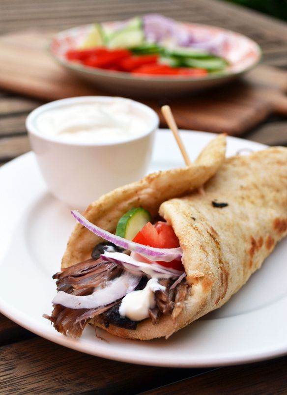 Home made lamb gyro with garlic sauce | What to Cook! | Pinterest