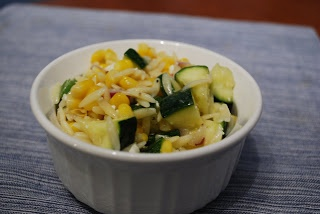 Cooking This and That: Corn and Zucchini Orzo Salad
