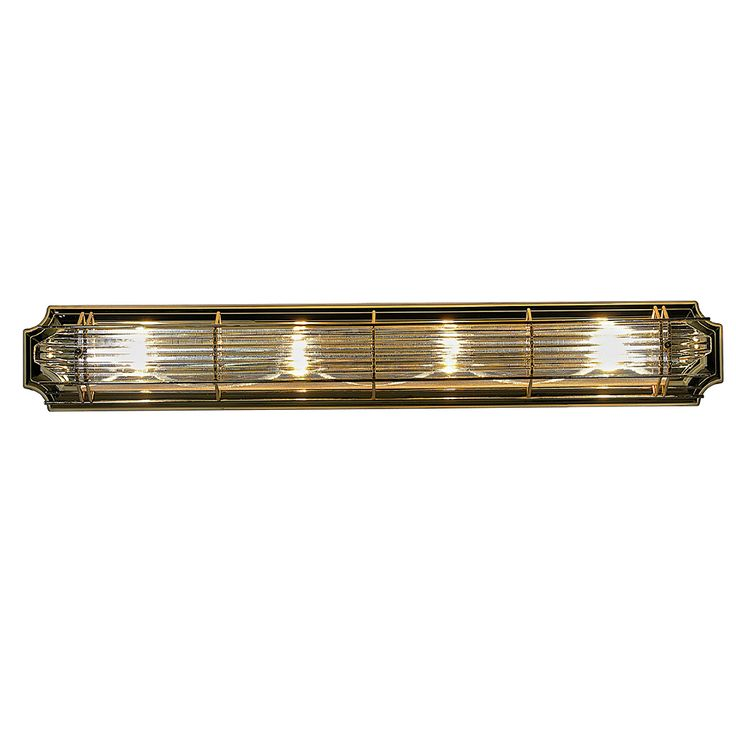 Brass Vanity Lights Bathroom : Contemporary Plated Brass 4-light Bathroom Vanity Fixture