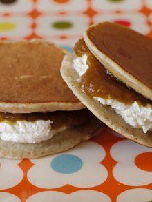 pumpkin butter and cream cheese sammies weelicious