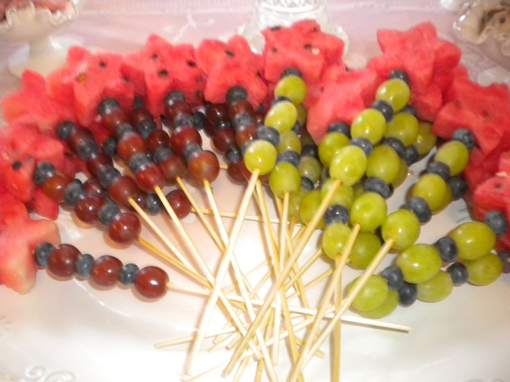 Fruit kebob wands for the princess birthday party sweets table. | I ...