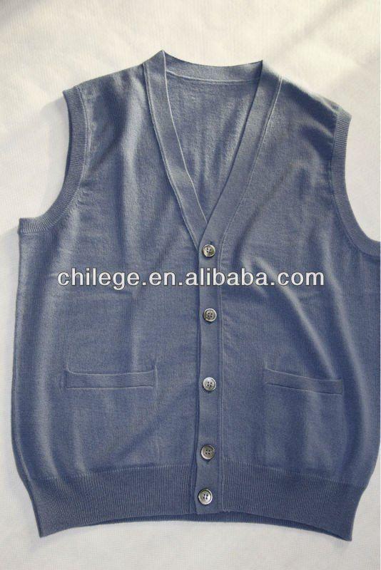 Knitting Pattern For Mens Cardigan Vest : Mens Cashmere Sleeveless Cardigans,Sweaters,Vest For Men - Buy Sleev?