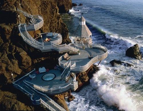 ocean-front deck, hawaii