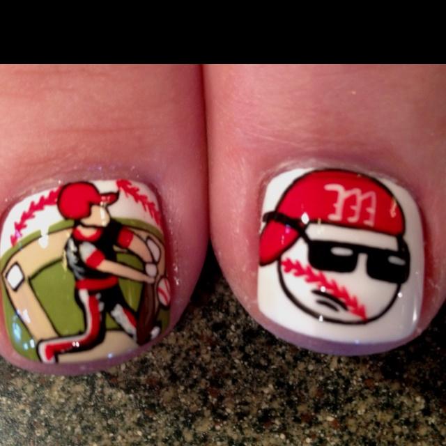 Cute baseball toes.