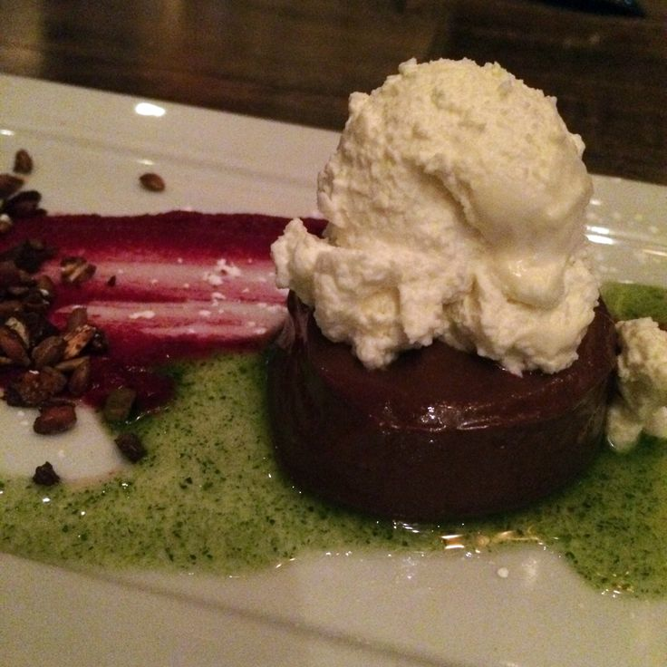 Pudding (Beet Butter, Mint Syrup, Wheat Berry, Granola, Whipped Cream ...