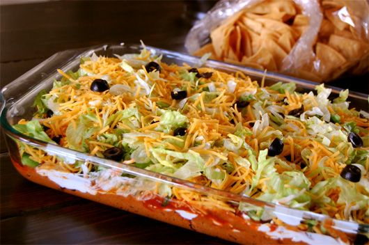 Layer No bake taco dip | Food | Pinterest