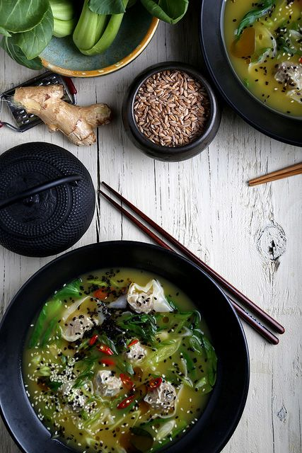 ... Vegan Recipes and Photography: Faux Pork Wonton Soup with Bok Choy