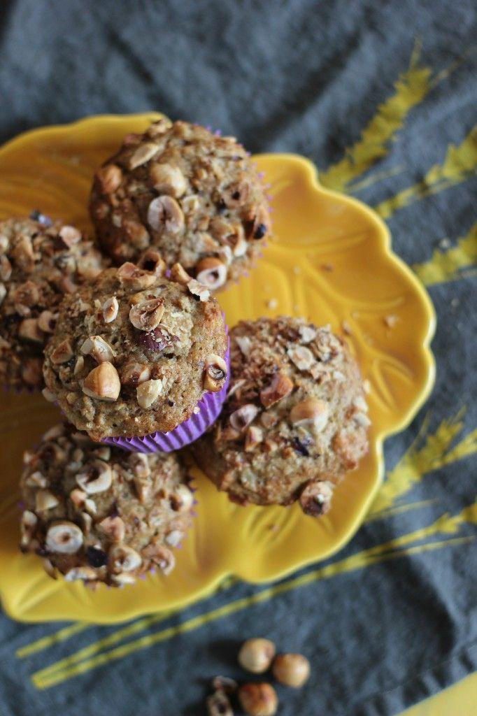 Pear, Hazelnut and Cardamom Muffins   www.purplehousecafe.com