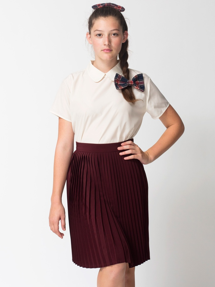 american apparel pleated skirt i need you in my closet