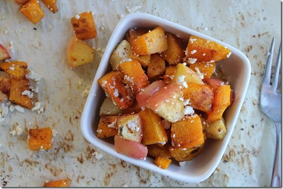 tiny butternut squash, cubed (about 2 cups of cubes) 1 apple, cubed ...