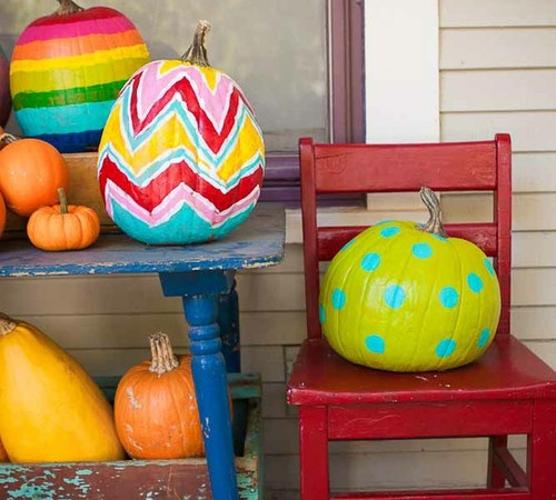 chevron pumpkin!  you will definitely be seeing these at the bradley house!  no carve pumpkins are my fav!