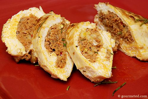 chicken breast stuffed with sausage