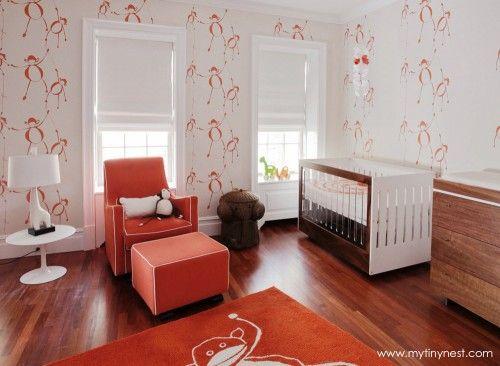 Modern Monkey-Themed Nursery - modern, fun, yet still elegant!