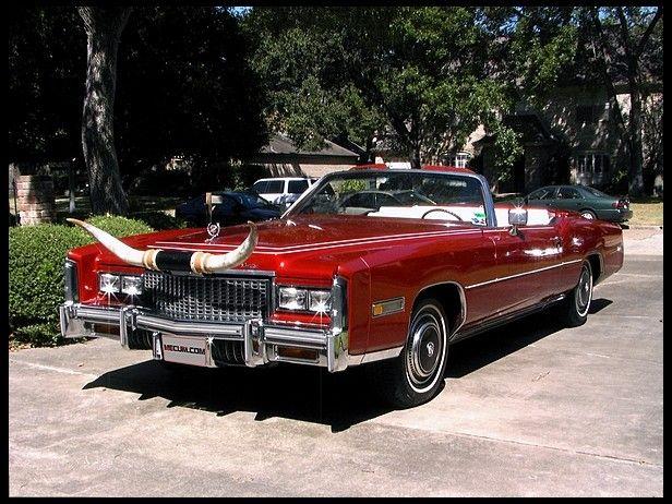 Big Shiny Red Sled 1973 Cadillac Eldorado Convertible