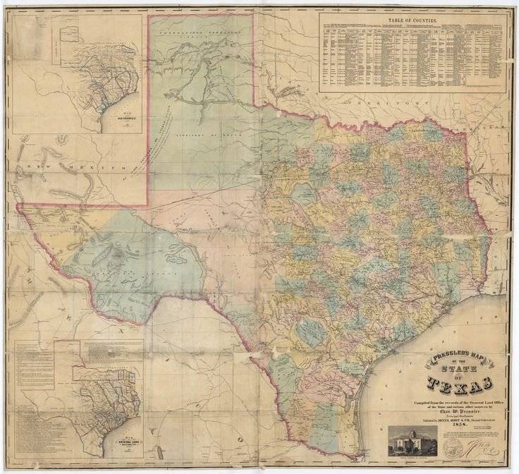 Old Texas Map  Home Sweet Home  Pinterest