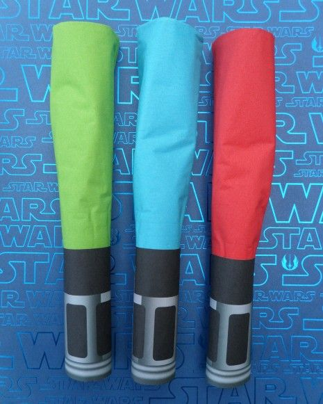Lightsaber napkin wrap DIY and template