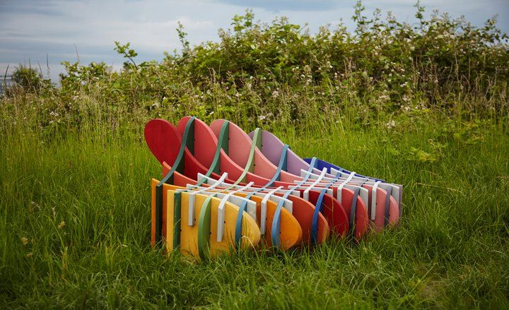 Pleasure Garden Bench using various finishes from the Country Colour range by Caroline L