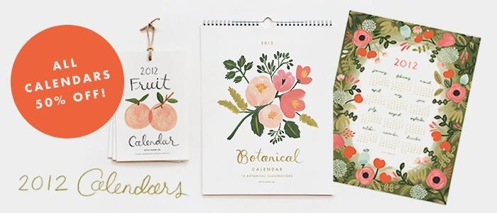 Botanical Calendars. Rifle paper co.