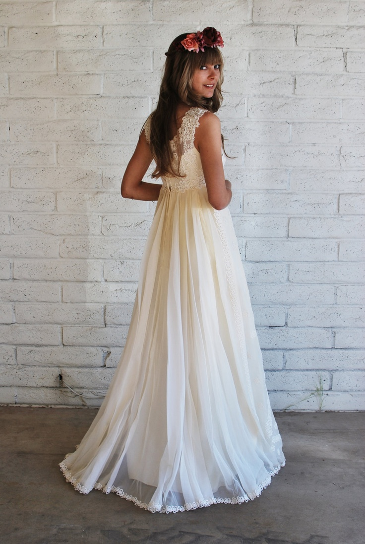 1960s style wedding dress 1960s boho wedding gown