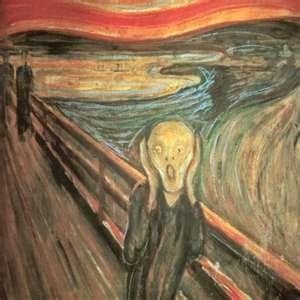 "May 7, 1994- In just under three months 'The Scream' by Edvard Munch was recovered by police. On February 12 of that year the painting was stolen from the National Museum in Oslo. It took a mere 50 seconds for two thieves to break-in through a window, cut the security wire attached to the painting, and leave a note. It read: ""Thousand thanks for the bad security!"" In 1996 four men were convicted in connection with the theft. (This Week in History ~JB pop-Eggs)"