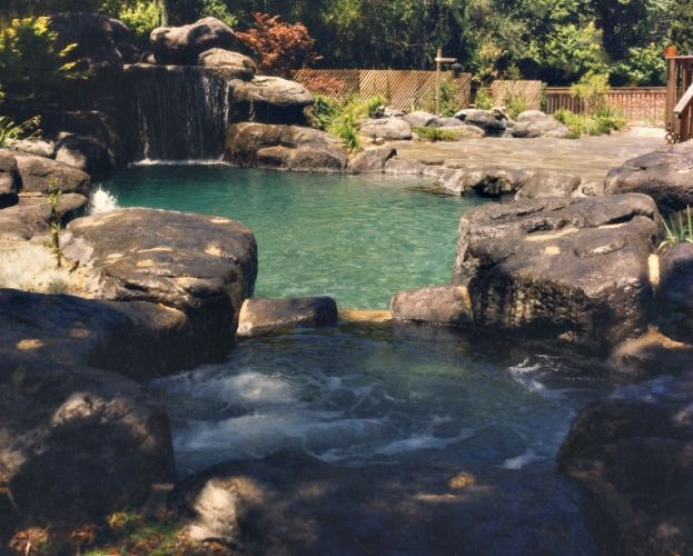 faux gratto spa cave Grotto Cave Pool Gardening ideas